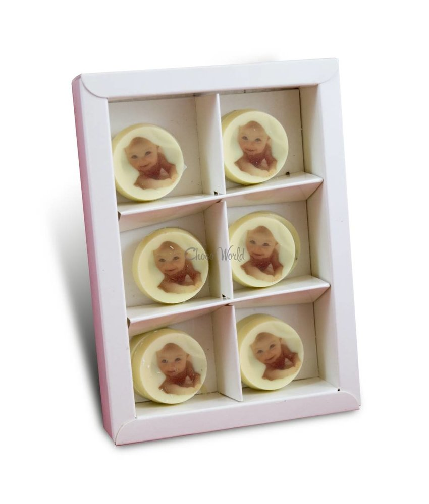 Chocolaterie Vink Jubileummunten Wit met Foto