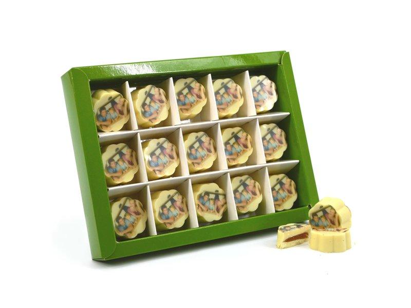 Chocolaterie Vink Bonbons Wit met Foto 15 st.