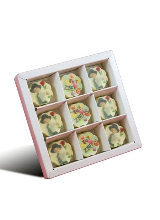 Chocolaterie Vink Bonbons Wit met Foto/Logo 9 stuks