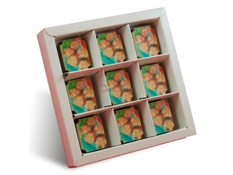 Chocolaterie Vink Bonbons Melk met Foto/Logo 9 stuks