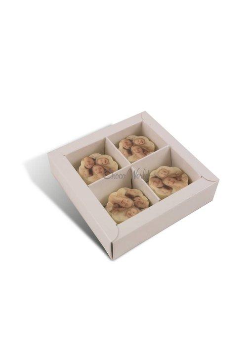 Chocolaterie Vink Bonbons Wit met Foto/Logo 4 stuks