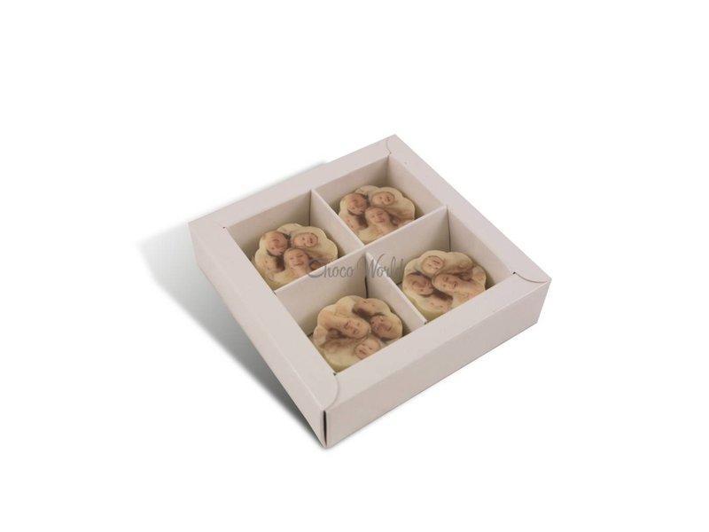 Chocolaterie Vink Bonbons Witte met Foto/Logo 4 stuks