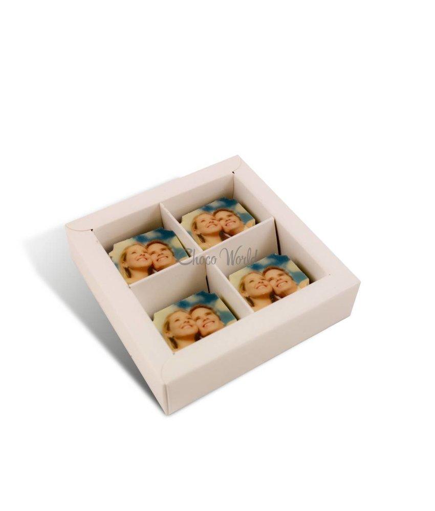 Chocolaterie Vink Bonbons Melk met Foto/Logo 4 stuks