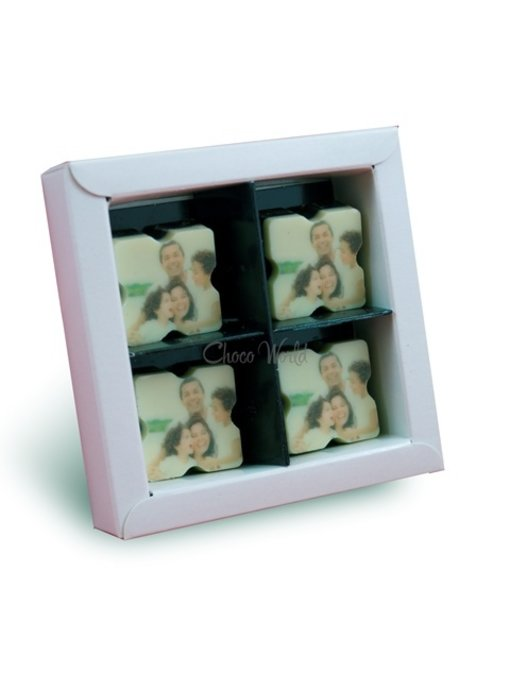 Chocolaterie Vink Bonbons Puur met Foto/Logo 4 stuks