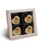 Chocolaterie Vink Bonbon Hartje Melk met Foto/Logo 4 stuks