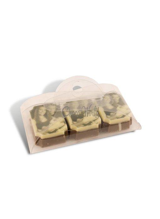 Chocolaterie Vink Bonbons Melk met Foto/Logo 3 stuks
