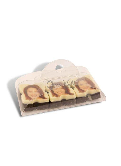 Chocolaterie Vink Bonbons Puur met Foto/Logo 3 stuks