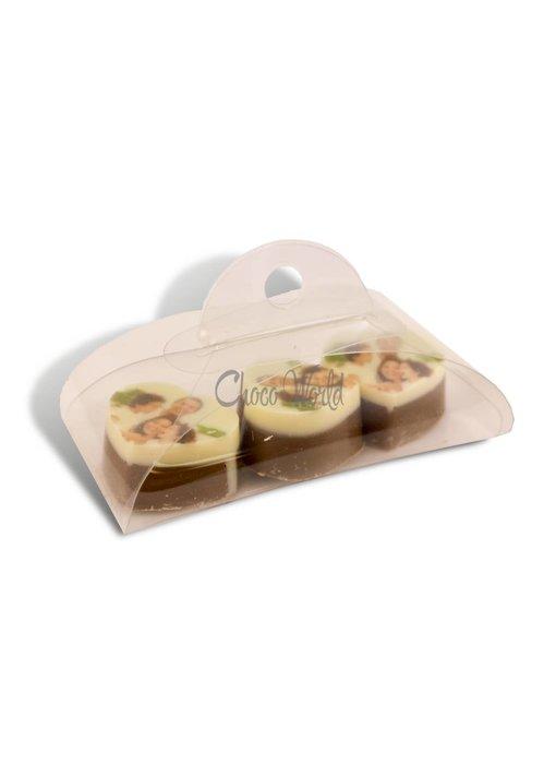 Chocolaterie Vink Bonbons Hartje Melk met Foto/Logo 3 stuks