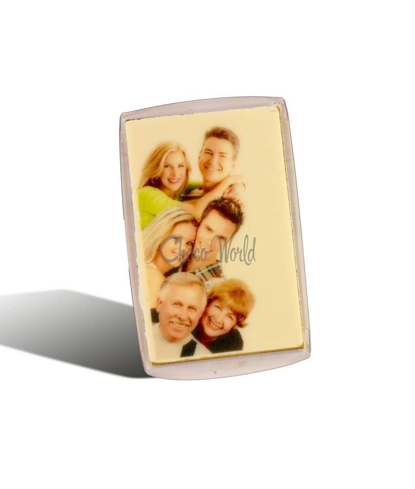Chocolaterie Vink Visitekaartjes Wit Foto/Logo