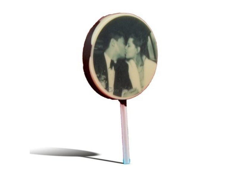 Chocolaterie Vink Lolly Rond Foto 5 Stuks