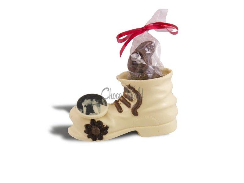 Chocolaterie Vink Herenschoen met Fotorondje/Logo