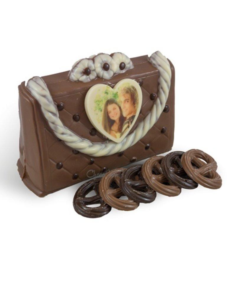 Chocolaterie Vink Handtas met fotohartje melk
