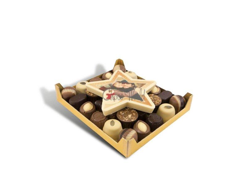 Chocolaterie Vink Slagroom Bonbons Assorti Klein met Chocolade Kerstster