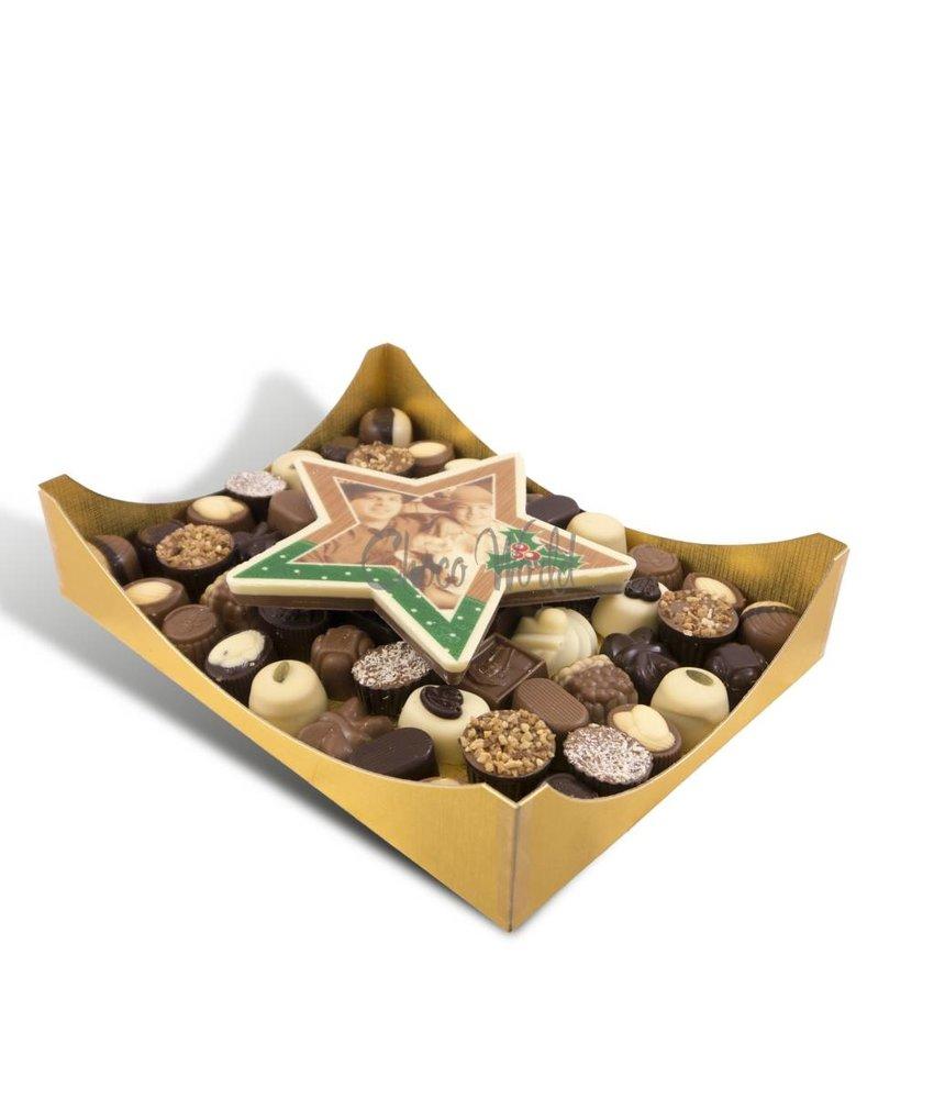Chocolaterie Vink Slagroom Bonbons Assorti Groot met Chocolade Kerstster
