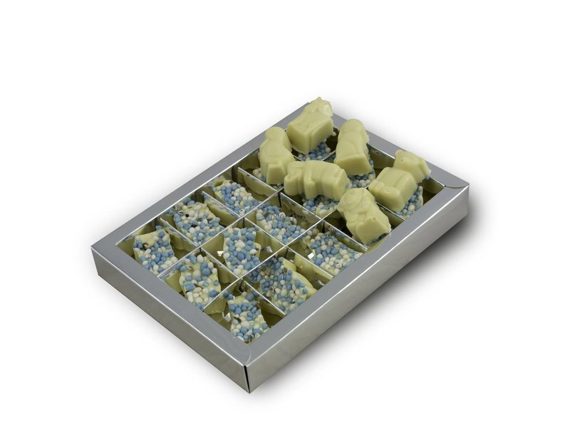 Chocolaterie Vink Dieren geboorte met blauwe muisjes