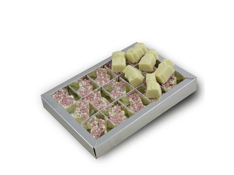 Chocolaterie Vink Dieren geboorte met roze muisjes