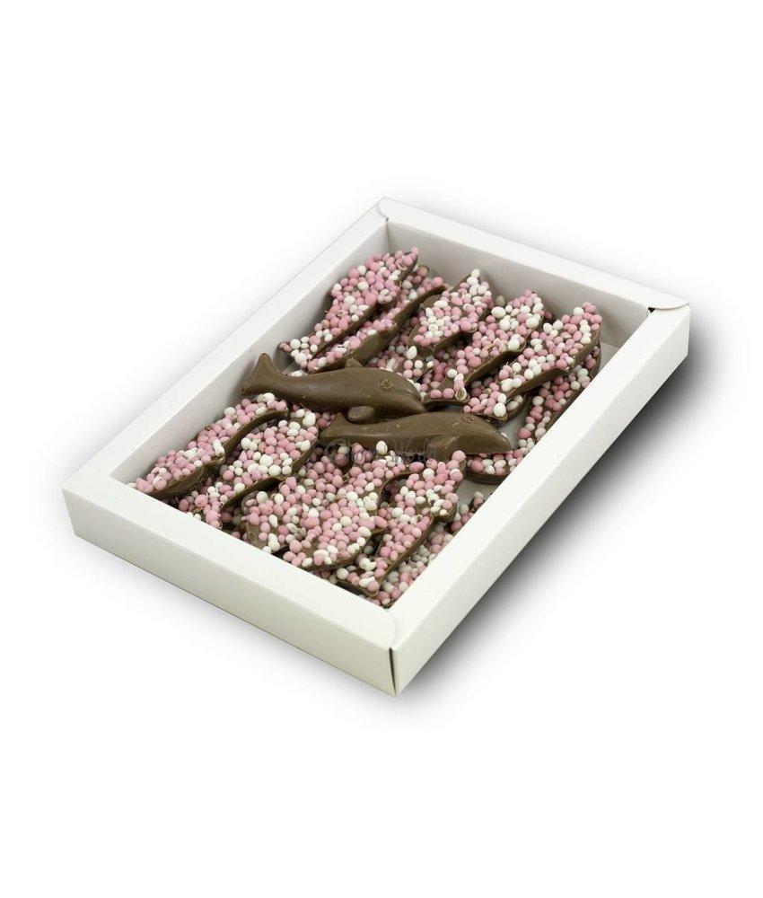 Chocolaterie Vink Dolfijntjes met roze muisjes