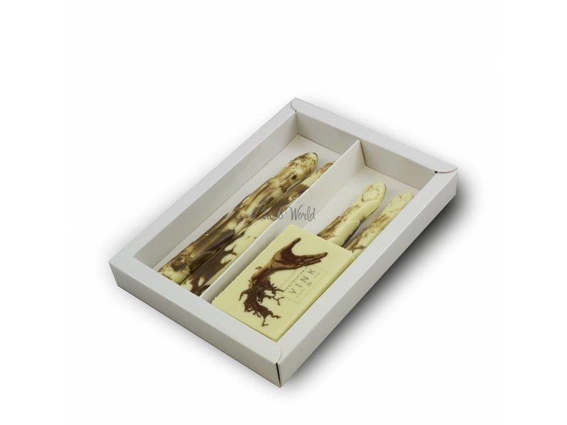 Chocolaterie Vink Asperge met foto/logo