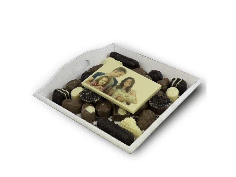 Chocolaterie Vink Slagroom Bonbons Assortiment Middel met Chocoladekaart