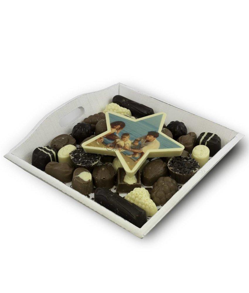 Chocolaterie Vink Slagroom Bonbons Assortiment Middel met Chocoladester