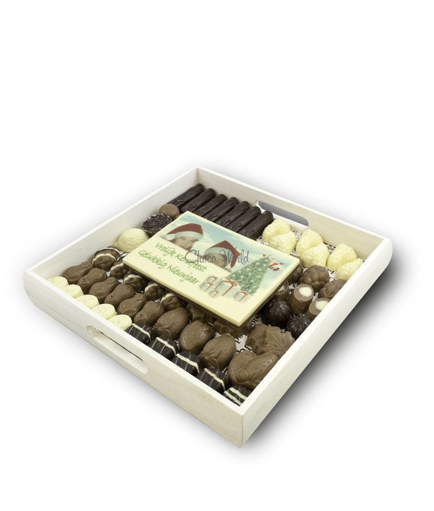 Chocolaterie Vink Slagroom Bonbons Assortiment Kingsize met Chocolade Kerstkaart