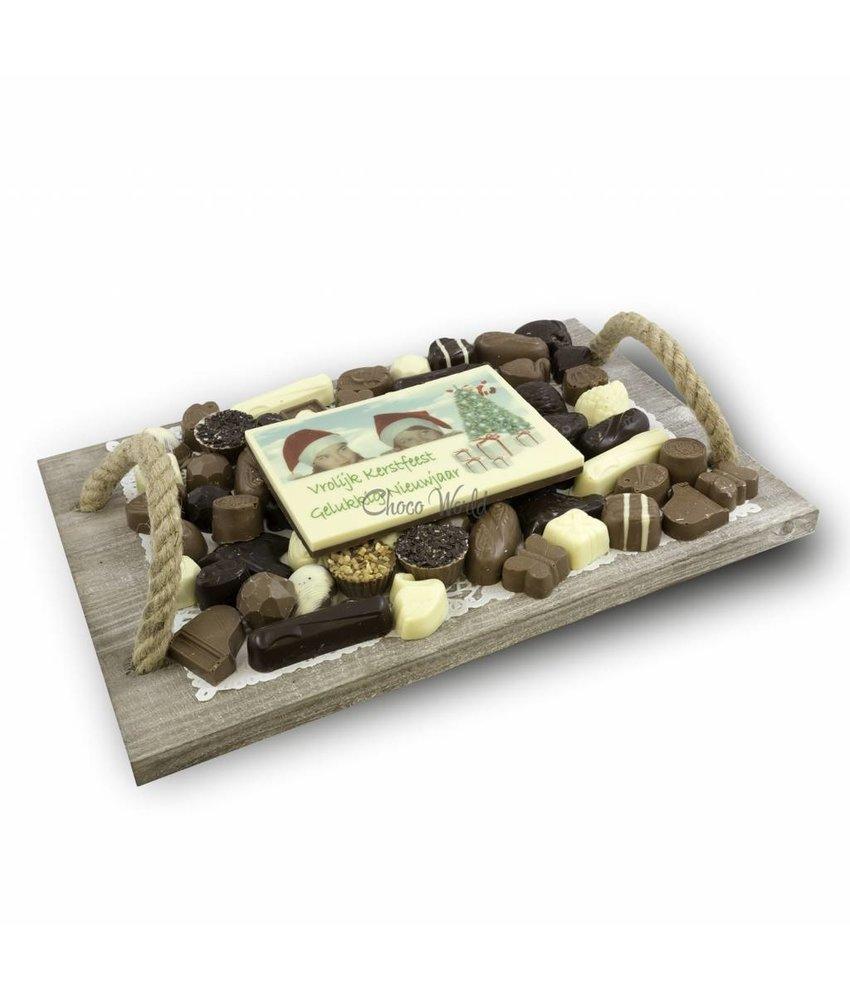 Chocolaterie Vink Slagroom Bonbons Assortiment Super met Chocolade Kerstkaart