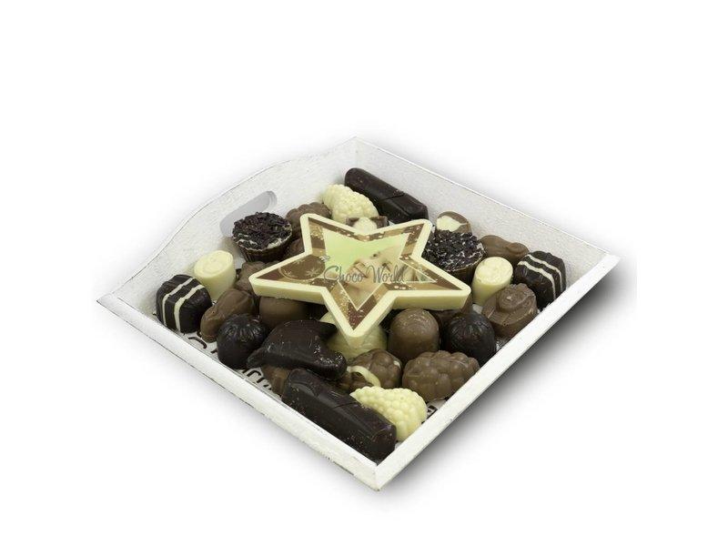 Chocolaterie Vink Slagroom Bonbons Assortiment Middel met Chocolade Kerstster