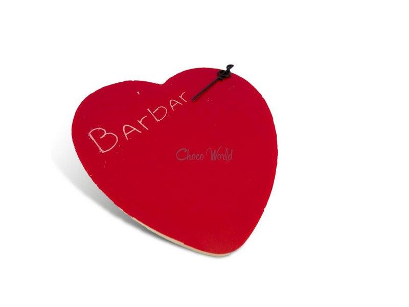 Chocolaterie Vink Chocolade hart rood kingsize