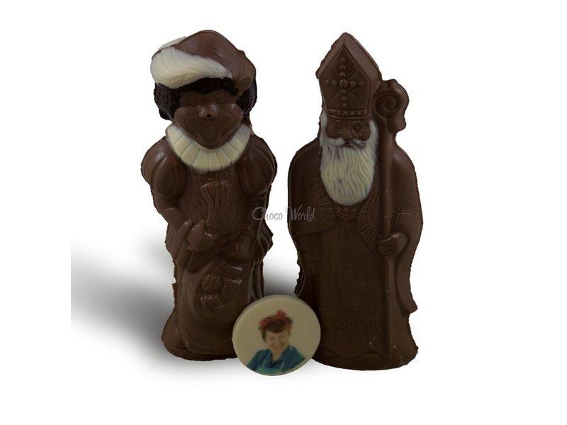 Chocolaterie Vink Sint en Piet met foto
