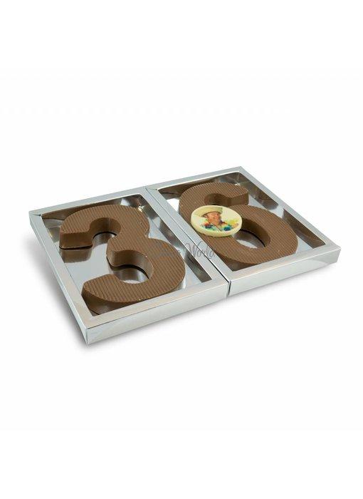 Chocolaterie Vink Cijfer Groot dubbel met foto