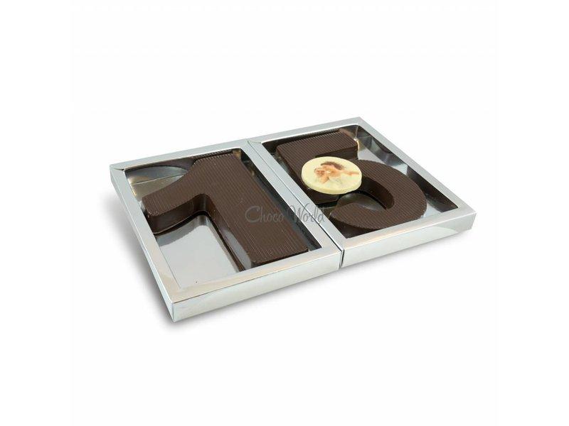 Chocolaterie Vink Chocolade Cijfer groot dubbel met foto