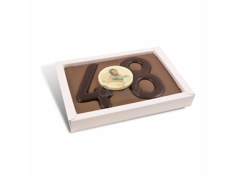 Chocolaterie Vink Chocolade Cijfer Dubbel met foto