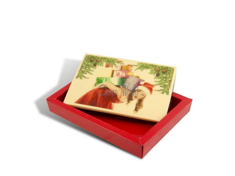 Chocolaterie Vink Kerstkaart middel met foto