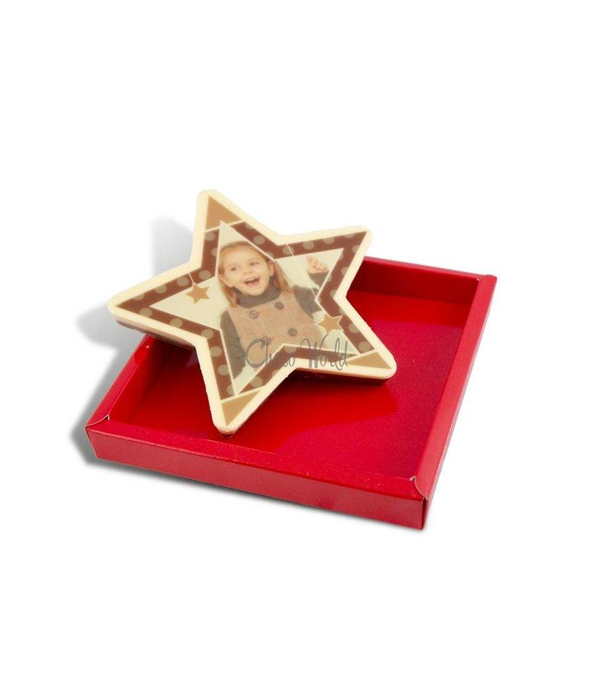 Chocolaterie Vink Kerstster klein met foto