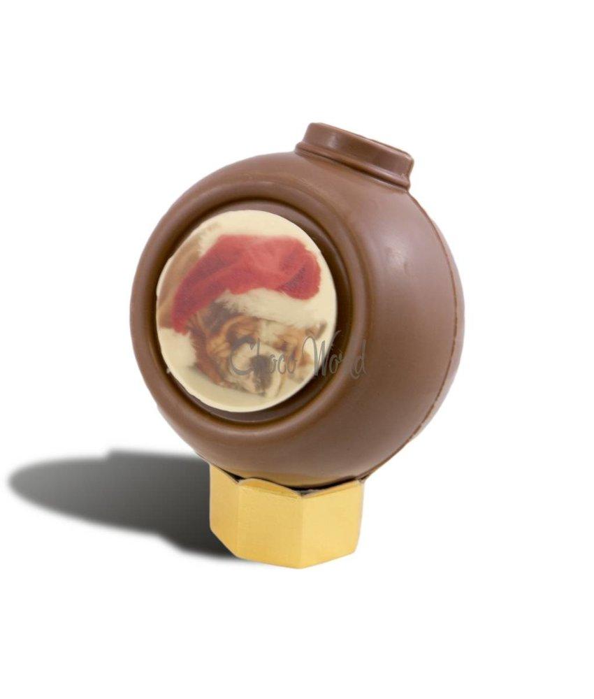 Chocolaterie Vink Kerstbal met foto