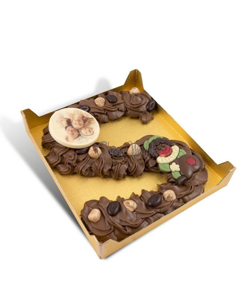 Chocolaterie Vink Spuitletter groot met foto