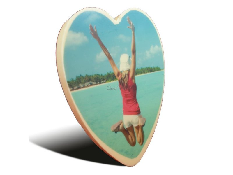 Chocolaterie Vink Chocolade hart groot met foto
