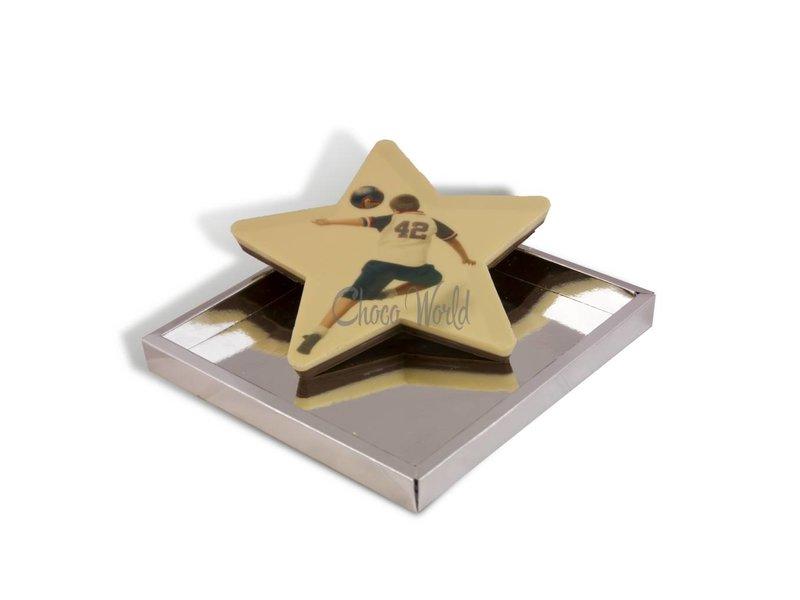 Chocolaterie Vink Grote chocolade ster met foto