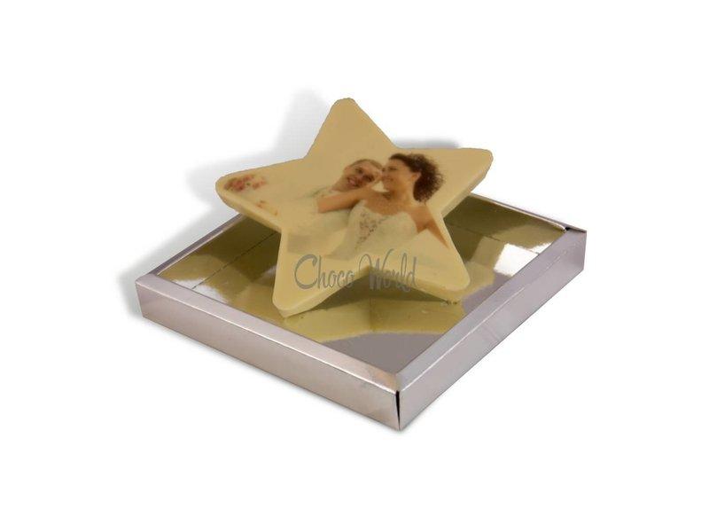 Chocolaterie Vink Kleine chocolade ster met foto