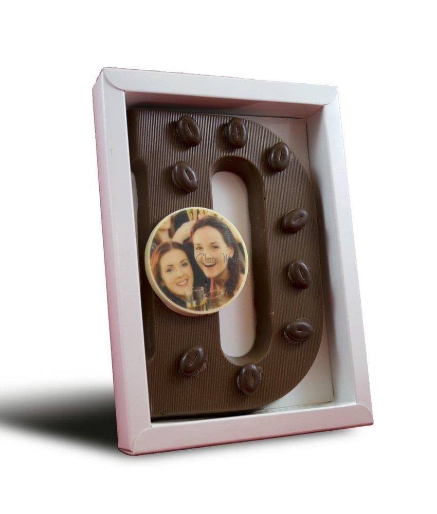 Chocolaterie Vink Chocoladeletter gedecoreerd met foto