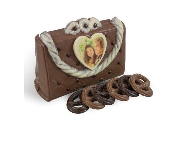 Chocolaterie Vink Handtas met fotohartje wit