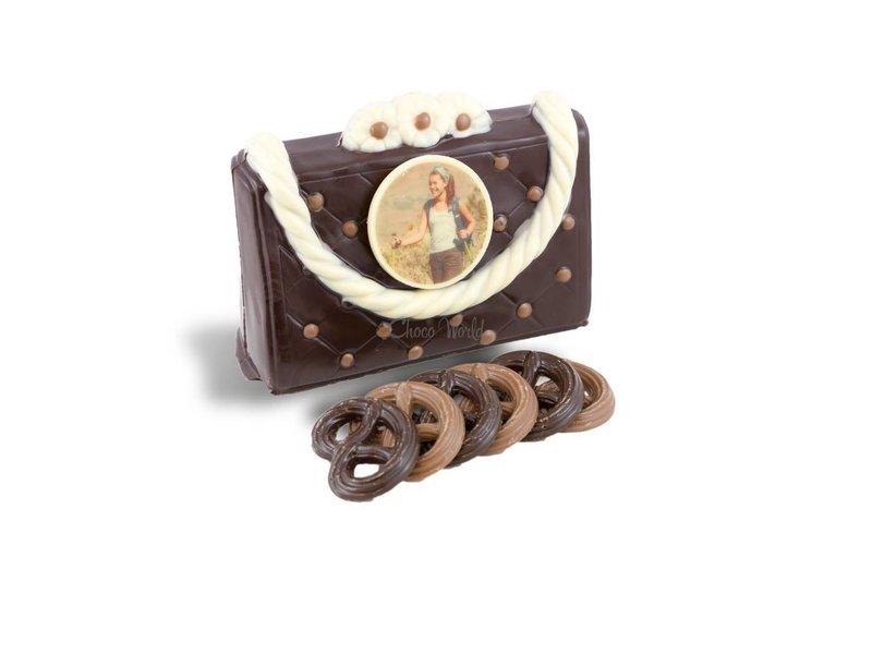 Chocolaterie Vink Handtas met fotorondje wit
