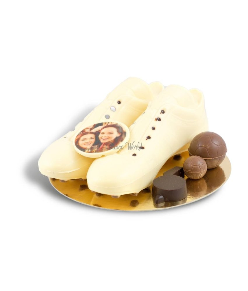 Chocolaterie Vink Voetbalschoenen met foto