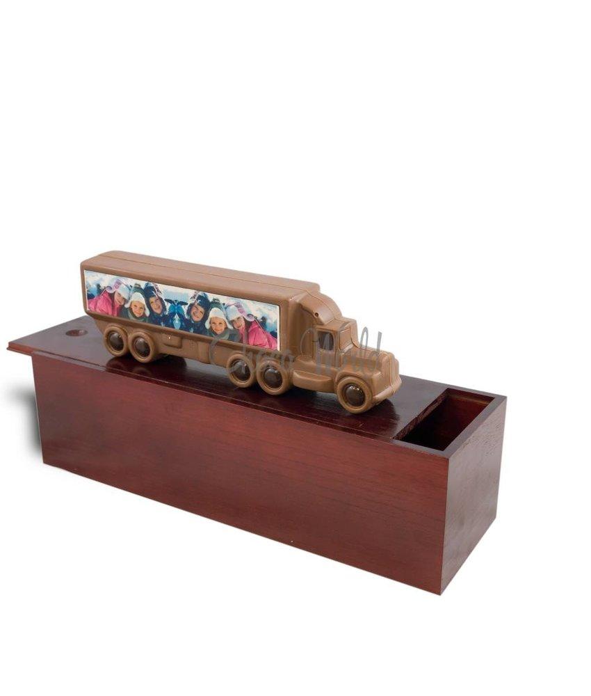Chocolaterie Vink Vrachtwagen met foto/logo & garage