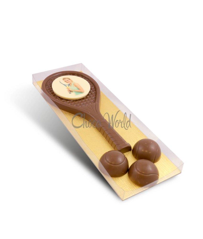 Chocolaterie Vink Tennissetje met foto