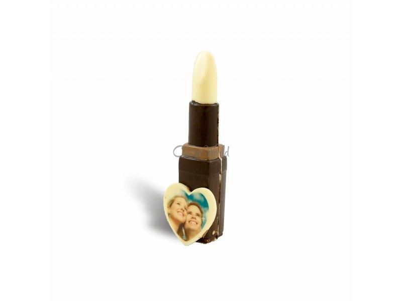Chocolaterie Vink Chocolade Lipstick met foto