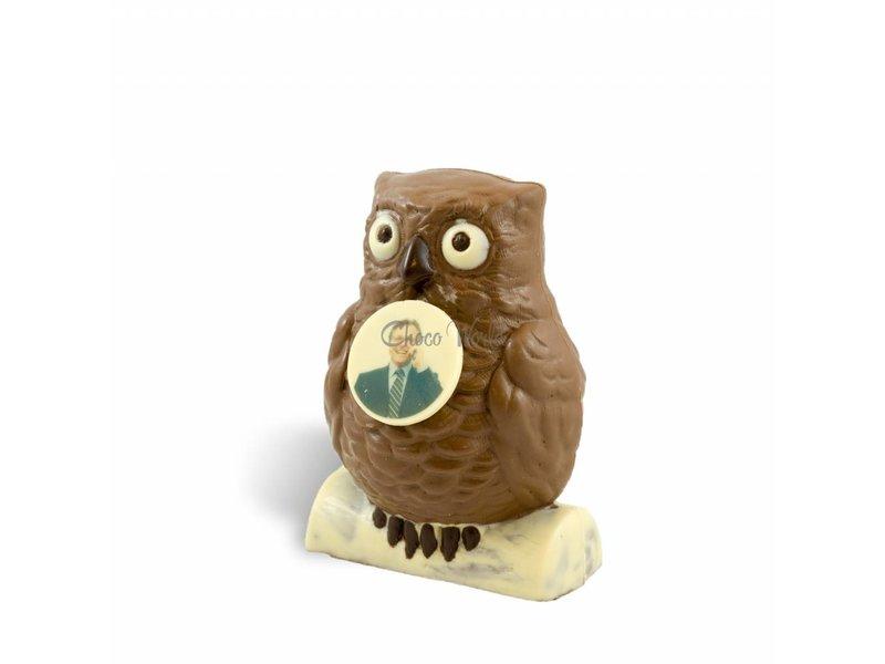 Chocolaterie Vink Chocolade Uil met foto