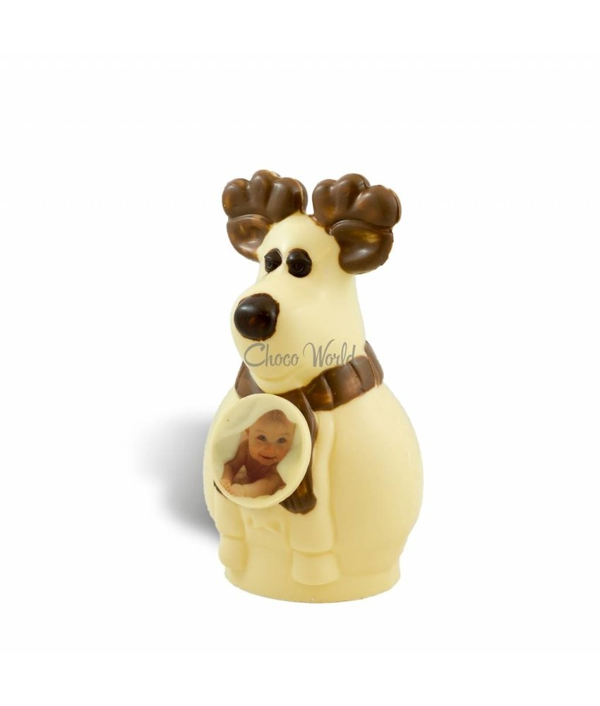 Chocolaterie Vink Rendier Rudolf met foto