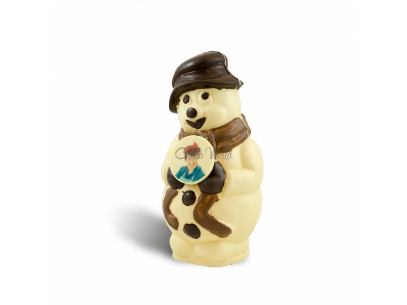 Chocolaterie Vink Chocolade Sneeuwpop met foto