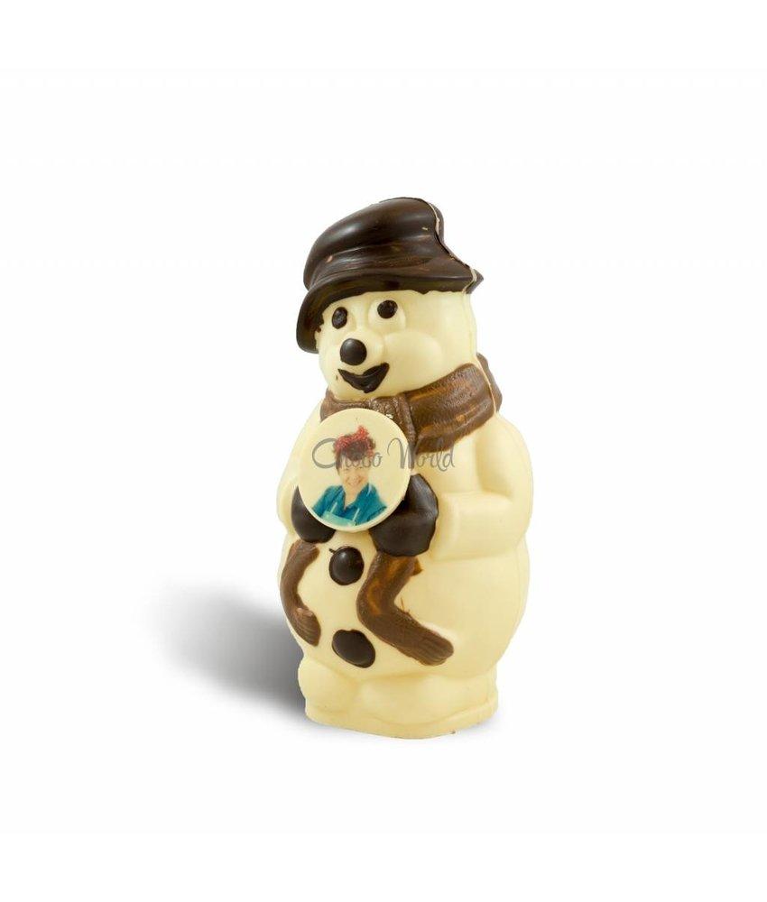 Chocolaterie Vink Sneeuwpop met foto